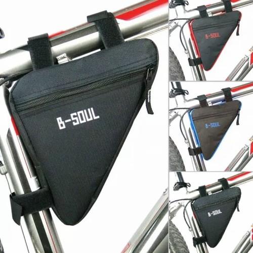 Foto Produk Tas Sepeda B-SOUL Segitiga / Frame Bag Bike B-SOUL / Tas Sepeda Import dari Uppala Shop