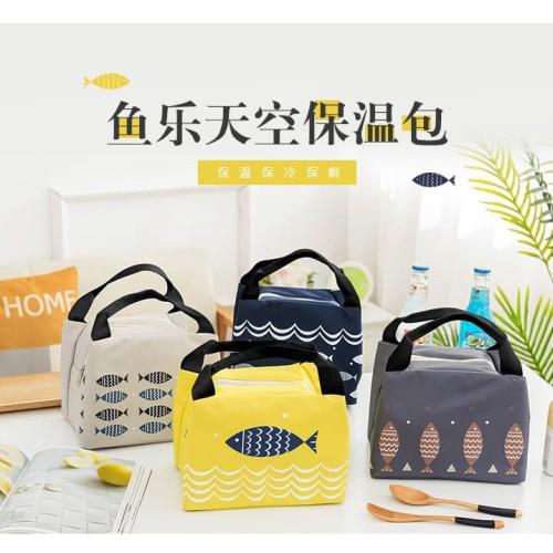Foto Produk Lunch bag Cooler Bag Tas Bekal Makan Siang-XY-04 dari KAINUO