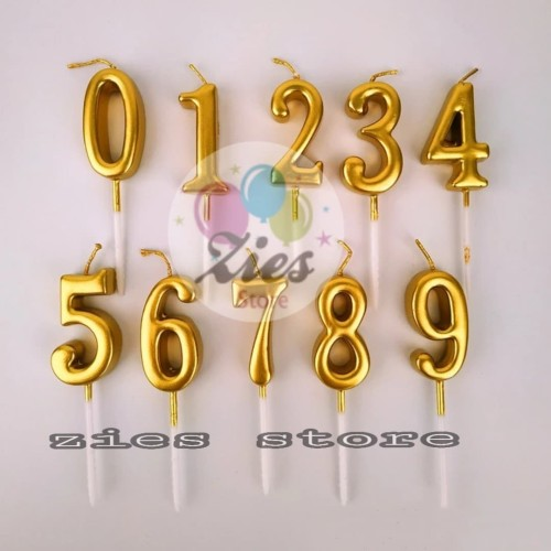 Foto Produk lilin ulang tahun angka / lilin angka ulang tahun gold dari Zies store