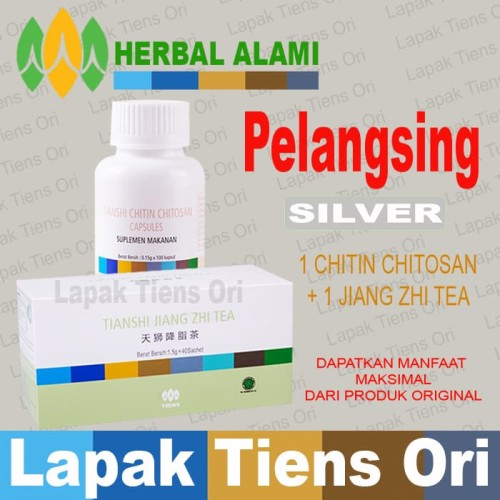Foto Produk Tianshi PELANGSING SILVER Paket Tiens (Tea+Chitin Chitosan) dari LAPAK TIENS ORI