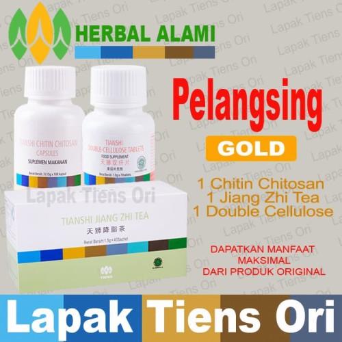 Foto Produk Tiens PELANGSING GOLD Tianshi (Tea+Chitin Chitosan+Double Cellulose) dari LAPAK TIENS ORI