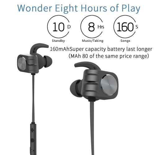 Foto Produk Earphone Bluetooth PLEXTONE BX338 Headset Waterproof IPX 5 - Hitam dari Hokky Dokky
