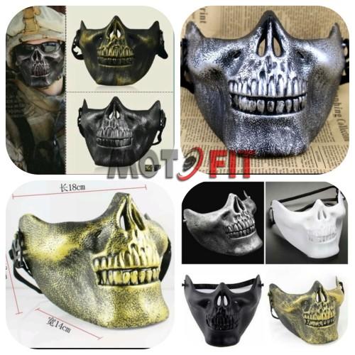 Foto Produk topeng airsoft half mask paintball tengkorak army of two urbex labu dari MOTO FIT VARIASI