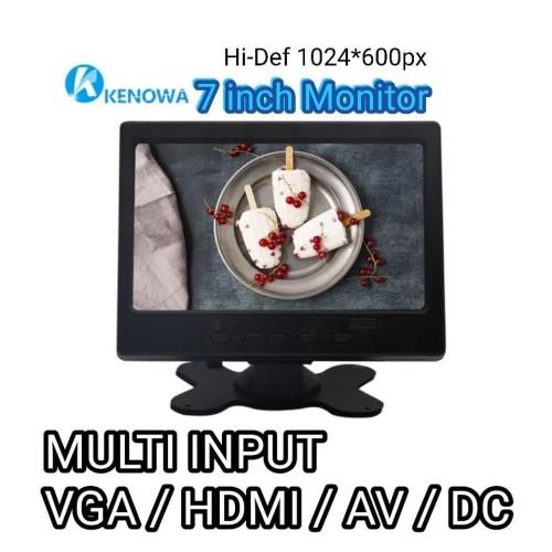 Foto Produk MONITOR MINI 7 INCH (VGA-HDMI-AV-DC) - HD Resolution - KENOWA K07 dari EtalaseBelanja