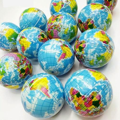 Foto Produk Mainan Bola Dunia Pantul Squishy bentuk globe Bumi Peta Dunia dari toys village