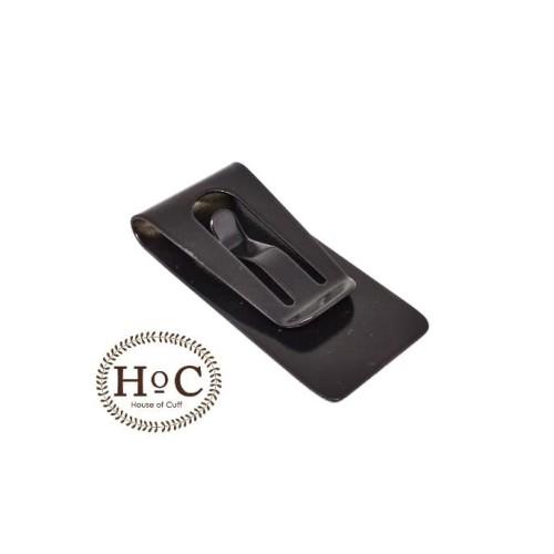 Foto Produk MONEY CLIP BLACK DOFF KLIP DOMPET UANG DOMPET KARTU CARD CLIP - Hitam dari House of Cuff