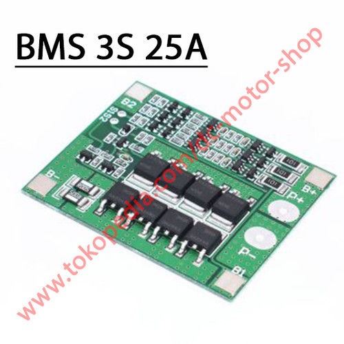 Foto Produk Modul BMS Battery Management System 3S 25A Li-Ion 18650 Battery dari DC Motor Shop