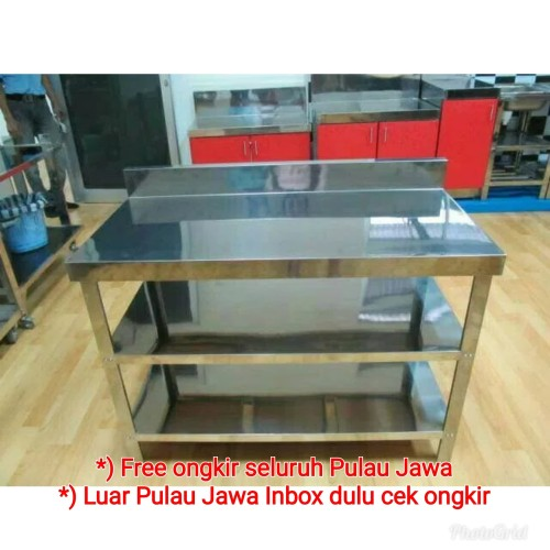 Foto Produk MEJA STAINLESS STEEL 3 RAK dari MEJA STAINLESS