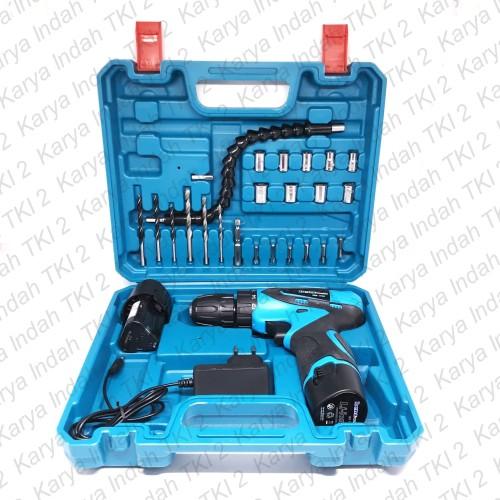 Foto Produk CORDLESS Drill 12Volt BENZ 24 Pcs Set Bor Tangan Baterai 12 V CBD-0104 dari Karya Indah TKI 2