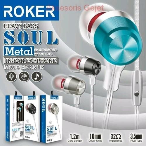 Foto Produk Handsfree Earphone ROKER SOUL dari Roker Official Store