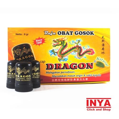 Foto Produk Obat Luar Dragon Menthol 100% 8gr BOX - Isi 12 pcs dari INYA STORE
