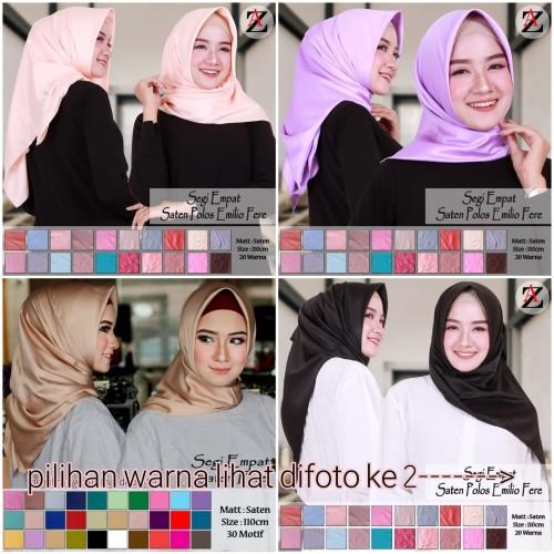 Foto Produk Jilbab Segi Empat Satin Velvet Polos dari Pusat Aneka Grosir