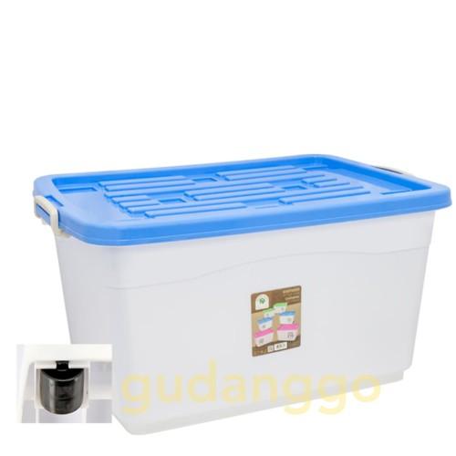 Foto Produk Super Jumbo SIERRA Container 210 L Roda 7885 Green Leaf Box dari Gudanggo Houseware