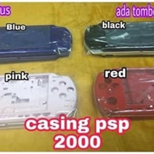 Foto Produk Kesing Cesing Casing Warna PSP 2000 Housing Hard Case Full Set Komplit dari exxengame