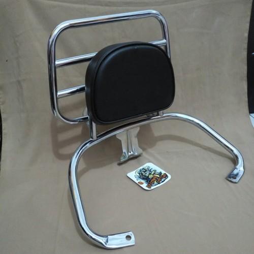 Foto Produk Back Rack Vespa Lx & S.. plus bantalan busa.. aksesoris vespa dari jen vareasi
