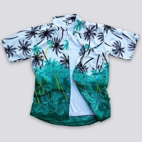 Foto Produk Baju Pantai - Kemeja Pantai Baju Pantai Murah - Baju Kemeja Pria Motif - Hijau, M dari Rocket Bali