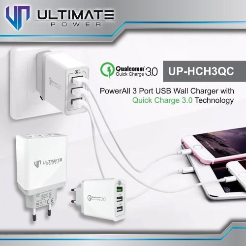 Foto Produk Ultimate Power HCH3QC Super Fast Charging 3 USB Charger QC 3.0 dari Ultimate Power Official