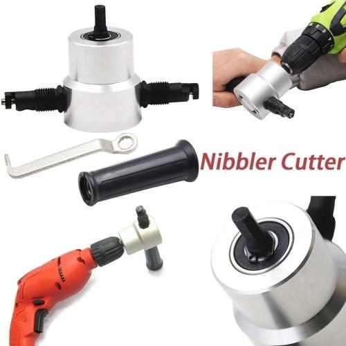 Foto Produk Nibble Nibbler Cutter Adapter Alat Potong Plat pelat Metal Doubel Head dari donicova