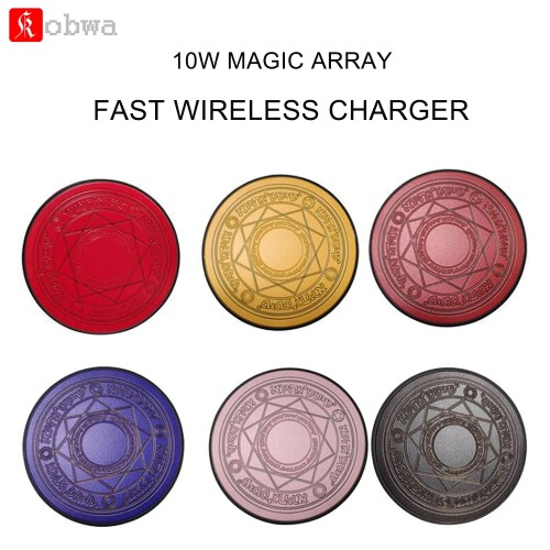 Foto Produk 6 Colors Mini Glowing Magic Array Wireless Charger 10W Qi Wireless dari almira skincare