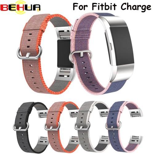 Foto Produk Fashion Colorful Nylon Watch Straps For Fitbit Charge 2 HR Strap dari almira skincare