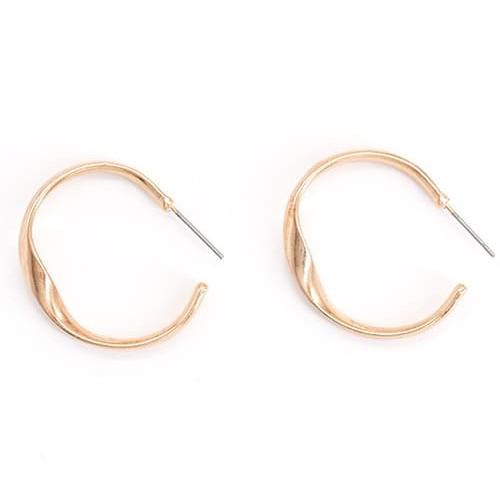 Foto Produk Anting Hoops Simple Round 2 Warna - Emas dari Wholesale-Acc