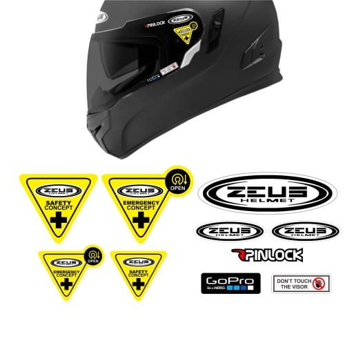 Foto Produk Simple Set Paket Stiker Helm ZEUS NOLAN - ZEUS dari @helm_nation