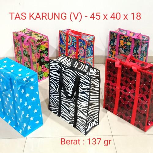 Foto Produk Tas Karung Plastik S (V) 45x40x18 Laundry Shopping Goodie Bag Souveni dari juragan kado