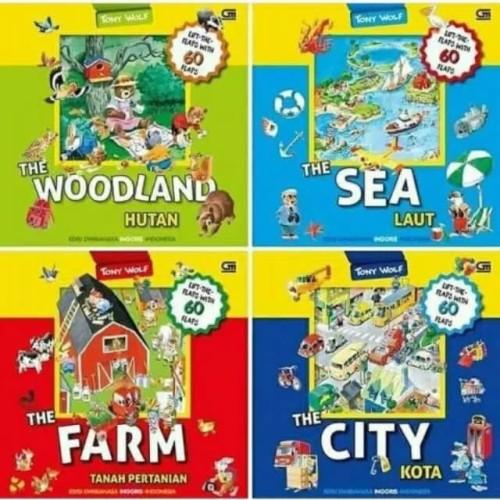 Foto Produk The Farm / Woodland / City / Sea by Tony Wolf. Buku anak BIP Gramedia dari Little Ivy