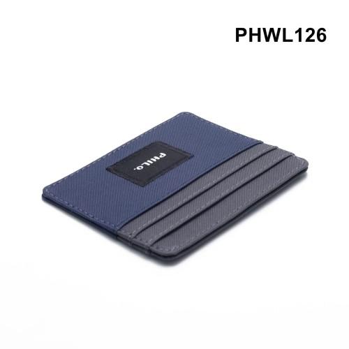Foto Produk dompet kartu tipis - card wallet - simple wallet navy grey PHWL126 dari philo