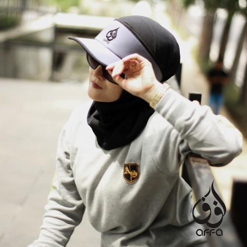 Foto Produk Topi Hijab Modern, Topi Hijab Sport By Muslim Wear Affa Pet Stndr Grey dari AFFA Dakwah Apparel