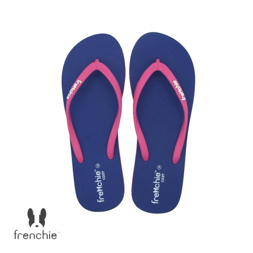 Foto Produk FRENCHIE Sandal Jepit Navy Blue Pink COZY SCW01 - 39 dari FRENCHIEWAY