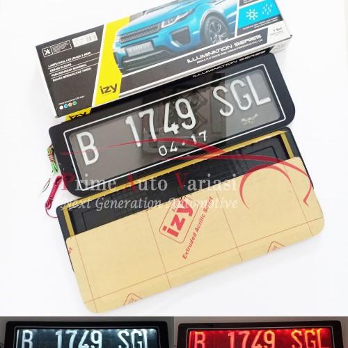 Foto Produk Tempat Plat Nomor Mobil Acrilic Akrilik Izy Lampu Led 46 Cm - W / R dari Prime Auto Variasi