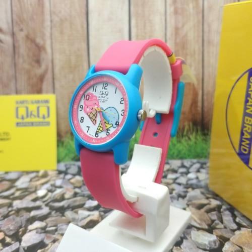 Foto Produk Q&Q QQ QnQ Analog Jam Tangan Anak Karet Pink VR41J007Y Original dari Ogyta Shop