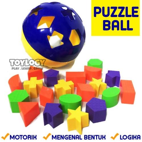 Foto Produk Mainan Edukatif Edukasi Anak Puzzle Ball Jigsaw Bola Bentuk Shape dari Toylogy