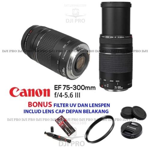 Foto Produk LENSA TELE CANON 75-300MM F4.5-5.6 III PAKET BONUS - KAMERA DSLR dari Mugi Mugi Laris