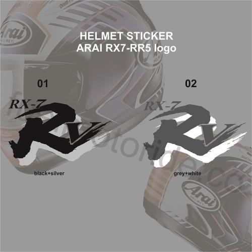 Foto Produk Sticker logo helm Arai RX7 RR5 not shoei kyt ink snail kbc agv airoh dari Fuel