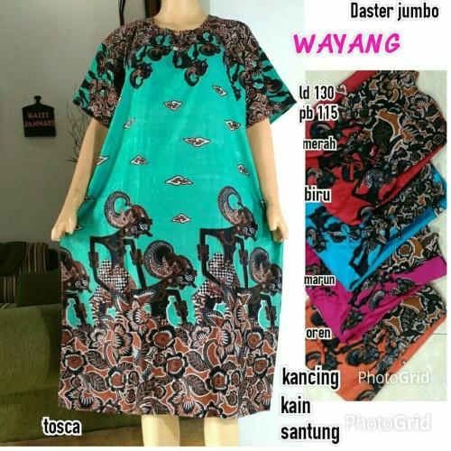 Foto Produk Daster Jumbo Batik Wayang / Baju Tidur / Ibu menyusui dari RisqianaBatik