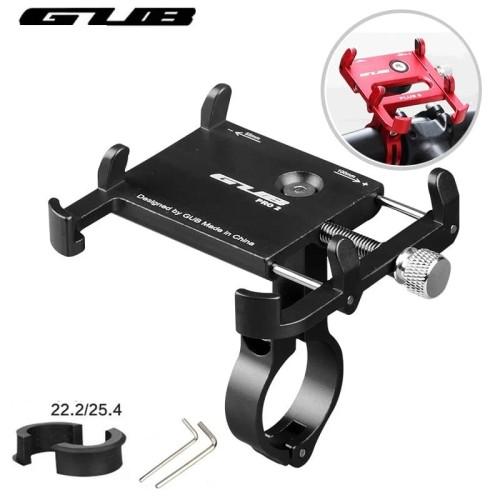 Foto Produk Rak handphone sepeda GUB - Handlebar phone holder alumunium alloy - Merah dari Uwo Sports