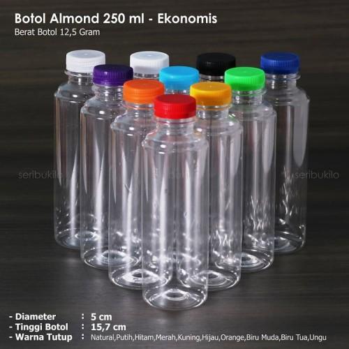 Foto Produk Botol Almond 250 ml / Botol Plastik Almond - Ekonomis dari Seribu Online