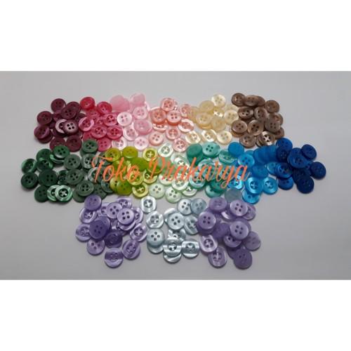Foto Produk Kancing Plastik Bening Warna Warni dari Toko Prakarya