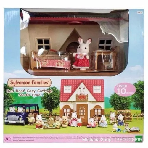 Foto Produk Rumah Sylvanian Families Red Roof Cosy Cozy Cottage Starter House Home dari Mishana Shop