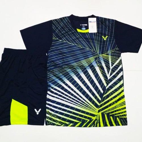 Foto Produk SETELAN Baju + Celana Badminton / Bulutangkis V129 Black dari SportMurah