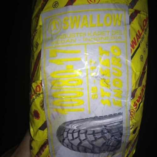 Foto Produk 100/80-17 Sb 117 Street Enduro, ban motor ring 17 merk Swallow dari Alx&V