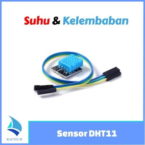 Foto Produk DHT11 module - sensor suhu & kelembaban udara + kabel dari RAFTECH