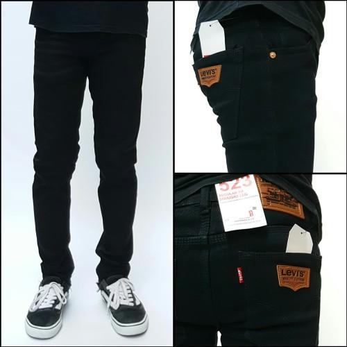 Foto Produk celana hitam jeans pensil pria skinny dari Sandang shop