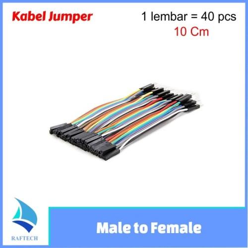 Foto Produk Kabel Jumper Arduino Dupont Pelangi 10cm Male to Female 1 lembar 40 dari RAFTECH