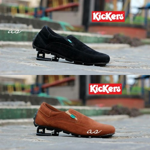 Foto Produk Sepatu Kickers Slip On Pria Slop Crocodile Terbaru Kualitas bagus - Hitam, 39 dari TOKO KICKERS 4