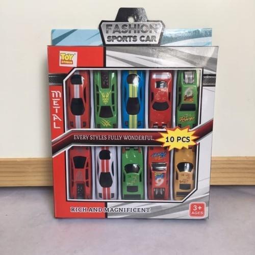 Foto Produk Mainan Anak - Mobil-mobilan isi 10pcs (BAHAN BESI) - Mainan Mobil dari AUDREL BABYSHOP