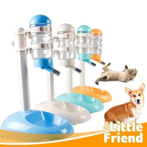 Foto Produk Botol Minum Tempat Makan Otomatis Standing Pet Feeder Anjing Kucing - Beige dari The Little Friend