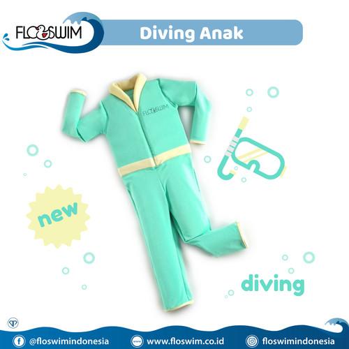 Foto Produk Floswim / Goswim Diving Anak XL (7-9th) - Hijau dari Enilate